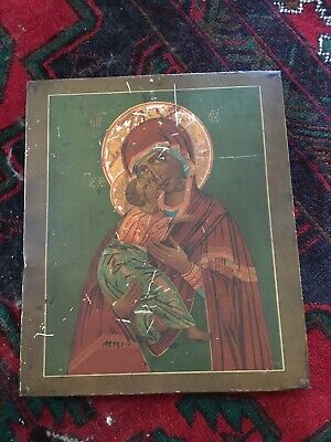 Large Antique Russian Icon