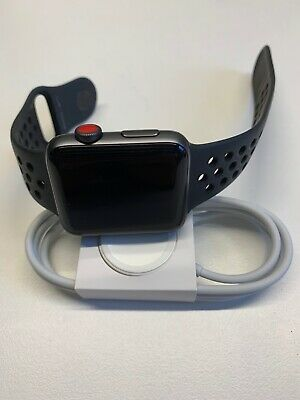 Apple Watch 3 Nike+ 42mm Space Gray Aluminium Case with Anthracite/Black Nike...