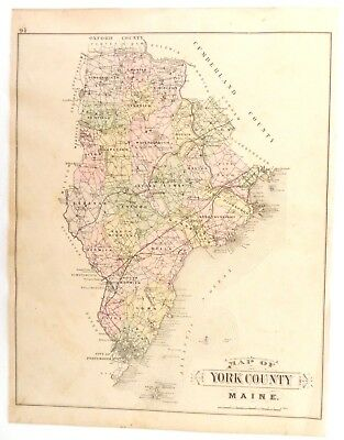 1902-03 ANTIQUE MAP, Stuart's Maine Atlas, York County, City ... on blank map of maine, york maine area map, driving map of maine, portland map of maine, brunswick map of maine, york county maine map 1872, york me map, york county city map, full map of maine, camden map of maine, map of counties of maine, us state map of maine,