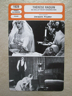 Fiche Therese Raquin  1928 Jacques Feyder Muet Gina Manes Zilzer  Mr Cinema