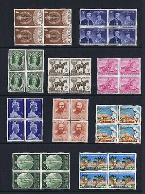 #BL004a) Pre-Decimal Stamps 10 Blocks 4 MNH, All Different SET 4 of 4 **WOW!!