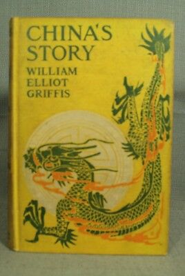 China's Story rare old antique vintage First Edition book Dragon art legend myth