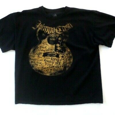 Johnny Cash Zion Rootswear Mens T-Shirt XXL Folsom Prison Ring of Fire & more