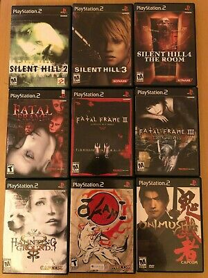 PS2 Game Lot of 16 Haunting Ground Silent Hill 2 3 4 Games Playstation 2