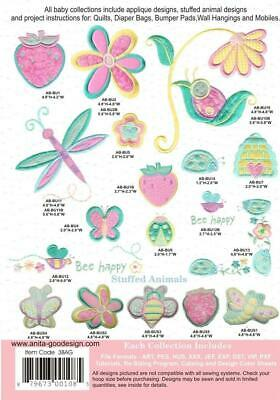 Bugs Anita Goodesign Embroidery Design CD, CD ONLY