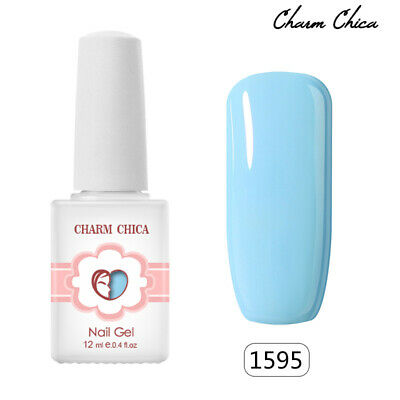 12ml CHARM CHICA  Bule Color Gel Nails Soak Off UV Nail Polish Manicure #1595