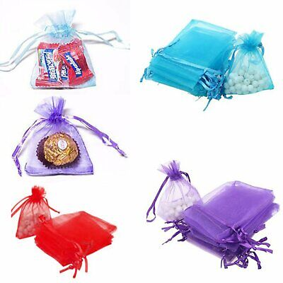 30-100 3Size Organza Bag Sheer Bags Jewellery Wedding Candy Packaging Beads Gift