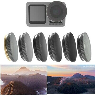 6PCS Camera Lens Filters UV CPL ND4/ND8/ND16/ND32-PL For DJI OSMO ACTION Camera