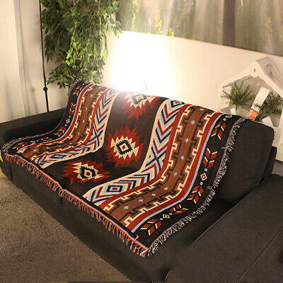 Wall Hanging Tapestry Home Throw Blanket 59inch Navajo Tribal Ethnic Kilim Aztec