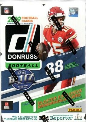 2019 Donruss Football NFL Blaster Box 88 Trading Cards Rated Rookies or Rookies