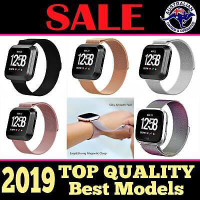 Fitbit Versa / Lite Replacement Band Strap Wrist Magnetic Stainless Steel Watch