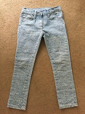 Seed Heritage Girls size 5-6 Leopard Animal Print jeans with elastic waist