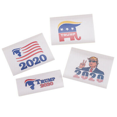 DIY 4Pcs MAGA Donald Trump 2020 Support Window Laptop Car Bumper Stickers Decals