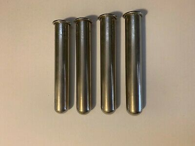 "(Lot of 4) Clay Adams 0901 Stainless Centrifuge Tube Shield 15ml - 4.75"" x 0.75"