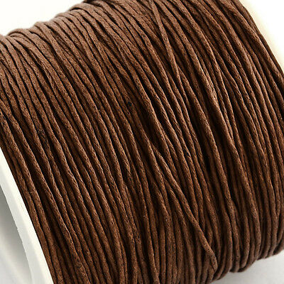 Waxed Cotton Cord Thread 1.5mm Saddle Brown for bead stringing bracelet necklace