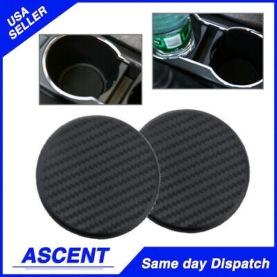 Silicone Car Water Bottle Cup Holder Pad Mat Decoration Carbon Fiber Accessories