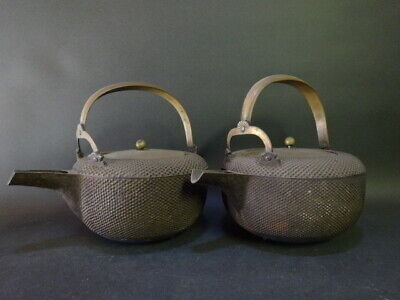 TETSUBIN Set Japanese iron kettle teapot tea ceremony Arare small round pattern