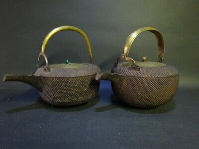 TETSUBIN Japanese old iron kettle teapot Arare small round pattern 2 types