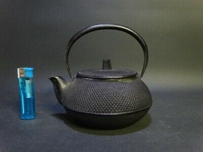 TETSUBIN Nanbu Japan iron kettle teapot Arare small round pattern tea ceremony