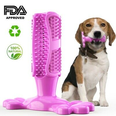 Dog Toothbrush Chew 5 Colors Cleaning Toy Silicone Pet Brushing Oral Dental-Care