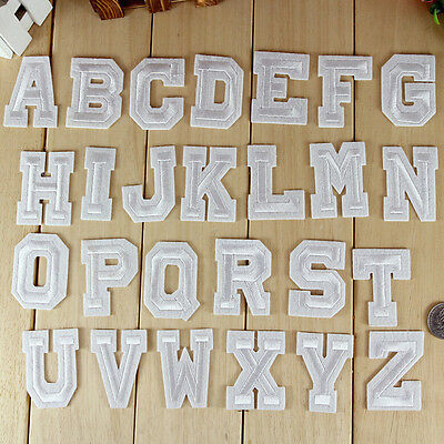 Alphabet 26 Letters Embroidered Iron On Patch Sew Motif DIY Applique AccessoriHZ
