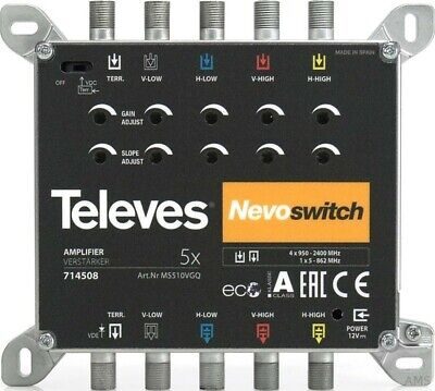 Televes MS510VGQ 5-fach Verst. 15dB f. MS Nevo