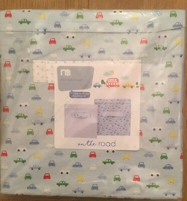 Mothercare On The Road Set Of 2 Storage Boxes ** Bnip **