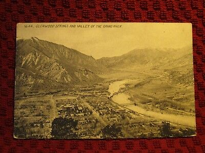 Early 1900'S. View Of Glenwood Springs. Colorado. Postcard E2