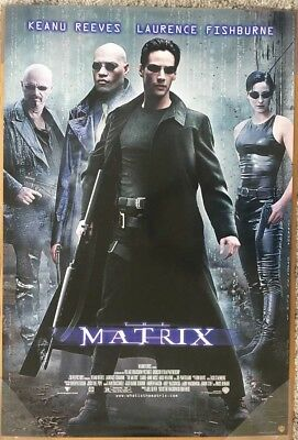 THE MATRIX DVD MOVIE POSTER 1 Sided ORIGINAL 27x40 KEANU REEVES CARRIE-ANNE MOSS