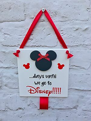 A5 SLEEPS UNTIL DISNEY castle countdown plaque with chalkboard can be customised