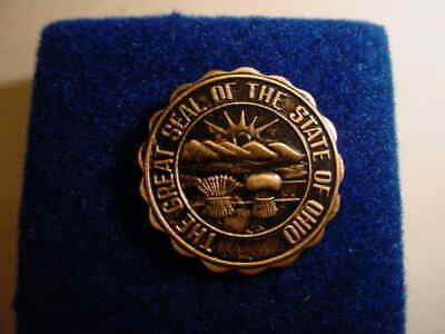 Vintage The Great Seal of the State of Ohio Lapel/Hat Pin  s51