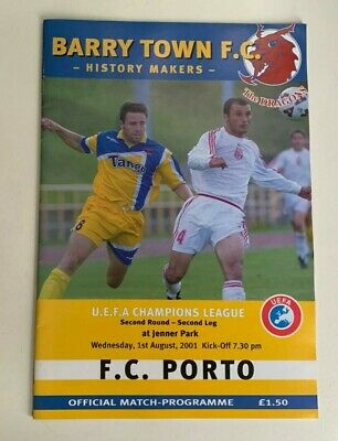 Barry Town v FC Porto of Portugal: UEFA Champions League 2001-02