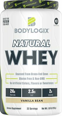 BODYLOGIX NATURAL GRASS-FED Whey Protein Powder Chocolate 1 6 lb NEW