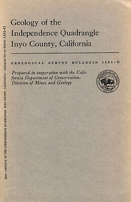 Owens Valley, Independence, Inyo, Calif., RARE mining 1st ed report & maps, VG !