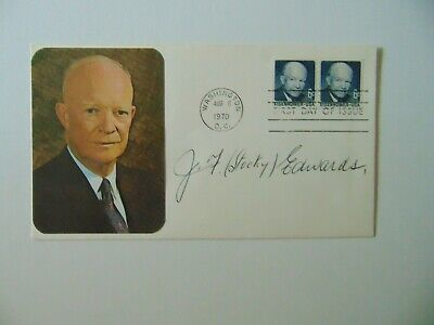 """""""WWII Ace"""" James Francis Edwards Hand Signed FDC Dated 1970 Todd Mueller COA"""