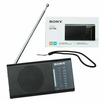 Sony ICF-P36 Portable AM/FM Radio with Built-in Speaker and Antenna - Brand NEW