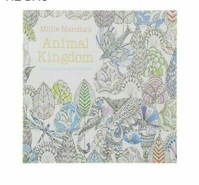 24 Pages Animal Kingdom English Edition Coloring Book For Children Adult Relieve