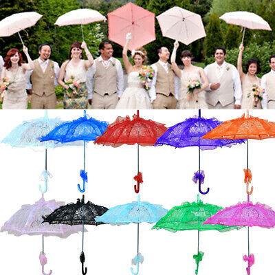 Beauty Embroidered Parasol Colored Lace Umbrella Bridal Wedding Party Decoration