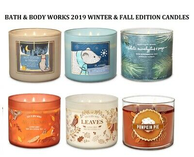Bath and Body Works Scented Candles Large 3 Wick 2019 Fall Season WORLD SHIPPING