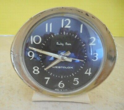 VTG Westclox Baby Ben Wind-Up Alarm Clock For Parts or Repair