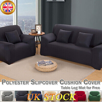 Spandex Sofa Cover Seater Slipcover Stretch Elastic Couch Furniture Protector UK