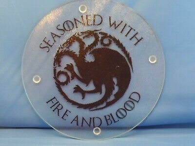 Game of Thrones House Targaryen Glass Trivet/Cutting Board