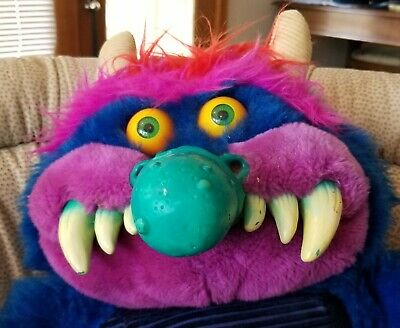 RARE Vintage 1986 My Pet Monster Plush WITH HANDCUFFS Excellent-Condition