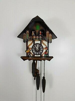 Vintage Black Forest Chalet Cuckoo Clock , With dancer on Balcony