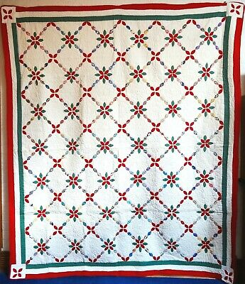 """Joseph's Chain """"Mint""""  Vintage Quilt Fabrics Reminescent Of 1845-1865 Timeframe"""