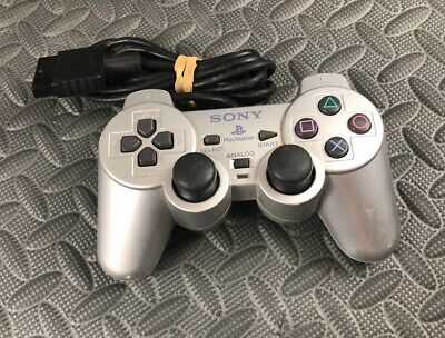 Genuine Sony Playstation 2 Ps2 Dualshock 2 Controller Silver Scph-10010 Oem