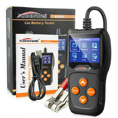 12V Load Battery Tester Digital Car Analyzer Multi Language KONNWEI KW600 N0J7D