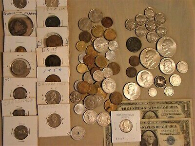 Junk Drawer Lot Collectibles Silver Coins Tobacciana Baseball Vintage Jewelry Xx