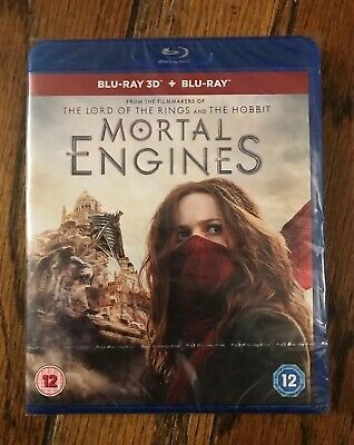 MORTAL ENGINES [Blu-ray 3D + 2D] (2018) Exclusive UK 3D Movie Philip Reeve