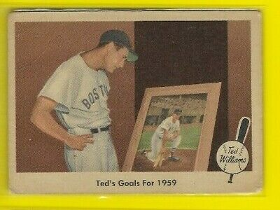 1959 Fleer Ted Williams Boston Red Sox Goals #80 🤩🚀
